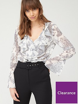 v-by-very-ruffle-front-blouse-mono