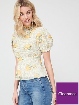 v-by-very-pintuck-high-neck-blouse-floral
