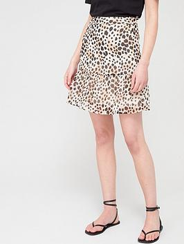 V by Very V By Very Woven Printed Skirt - Leopard Picture