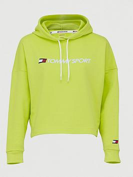 Tommy Hilfiger Tommy Hilfiger Cropped Logo Hoodie - Yellow Picture