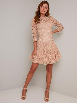 chi chi london Chi Chi London Emberley Dress - Mink Picture