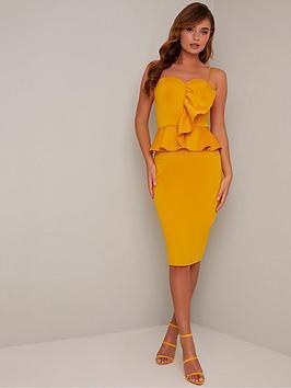 chi chi london Chi Chi London Ettie Dress - Mustard Picture