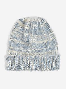 topshop-space-dye-beanie-hat-blue
