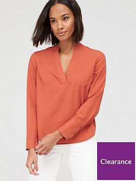 v-by-very-notch-neck-shirt-orange