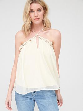 V by Very V By Very Embroidered Cross Back Cami - White Picture