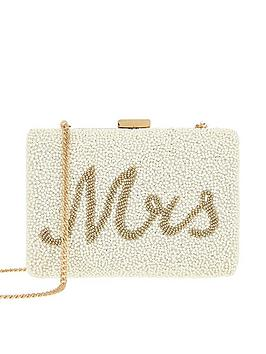 Accessorize Accessorize Mrs Beaded Hard Case Clutch - Ivory Picture