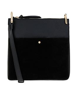 Accessorize    Alessie Zip Leather Messenger