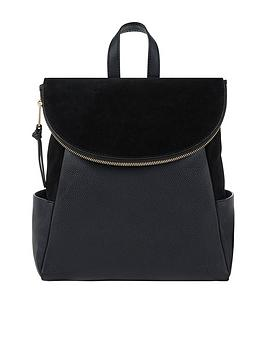 Accessorize    Sabel Zip Flap Leather Backpack