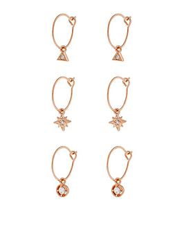 Accessorize Accessorize Z 3X Charmy Hoop - Rose Gold Picture