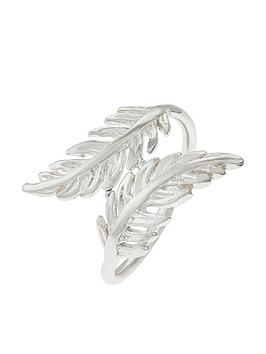 Accessorize Accessorize Sterling Feather Wrap Ring - Silver Picture
