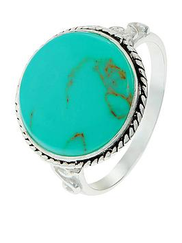 Accessorize Accessorize Sterling Statement Ring - Turquoise Picture