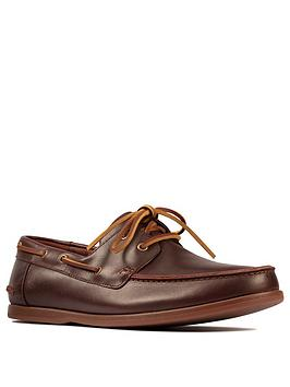 Clarks Clarks Pickwell Sail Lace Up Shoes - Tan Picture