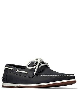 Clarks Clarks Pickwell Sail Lace Up Shoes - Navy Picture