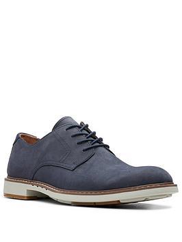 Clarks Clarks Un Elott Lace Up Shoes - Navy Picture