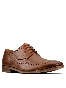 Clarks Clarks Stanford Limit Lace Up Shoes - Tan Picture