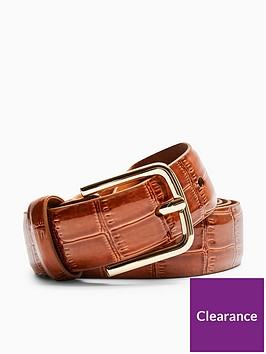 topshop-croc-belt-brown