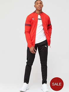 puma-football-tracksuit-red