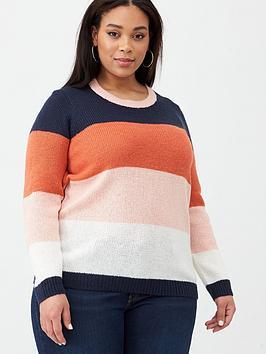 Junarose Junarose Billu Block Colour Knit Jumper - Multi Picture