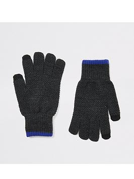 river-island-knit-gloves-greynbsp