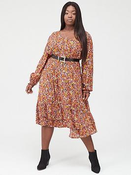 Junarose Junarose Aria Printed Midi Dress - Lilac Picture