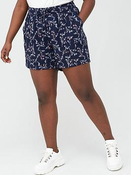 Junarose Junarose Curve Maika Printed Shorts - Navy Picture