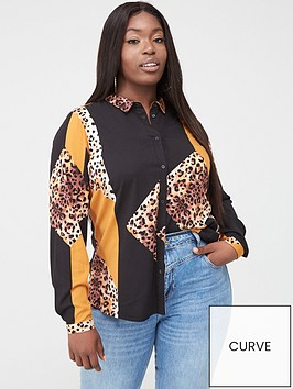 junarose-koi-mixed-print-shirt-multi
