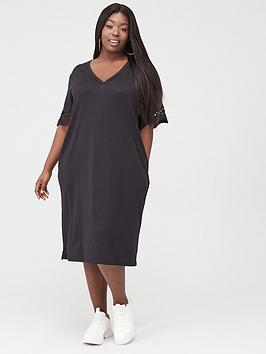 Junarose Junarose Fara T-Shirt Midi Dress - Black Picture
