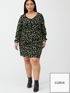 junarose-dita-printed-dress-black