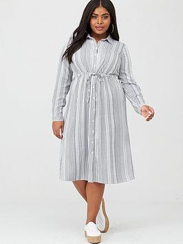 Junarose Junarose Adya Long Sleeve Midi Dress - Black/White Picture
