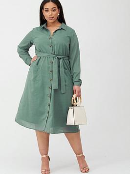 Junarose Junarose Lyza Utility Shirt Dress - Green Picture