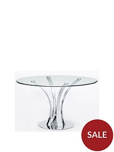 alice-130-cm-round-clear-glass-and-chrome-dining-table