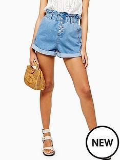 topshop-topshop-paperbag-denim-shorts-mid-denim
