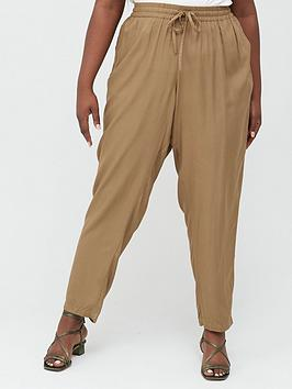 Junarose Junarose Curve Maika Casual Trousers - Stone Picture