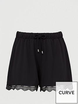 junarose-iberis-lace-hem-casual-shorts-blacknbsp
