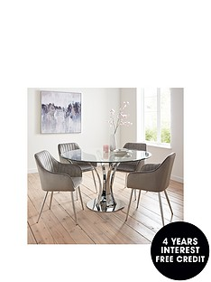 alice-glass-top-dining-table-4-alisha-chairs-chromegrey