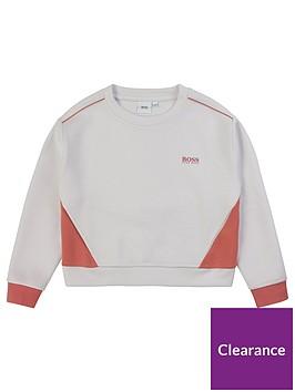 boss-girls-colourblock-crew-sweatshirt-white