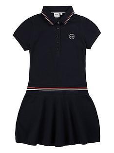 boss-girls-classic-pique-polo-dress-navy