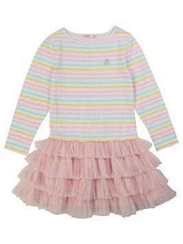 Billieblush Billieblush Girls Long Sleeve Stripe Tutu Dress - Multi Picture