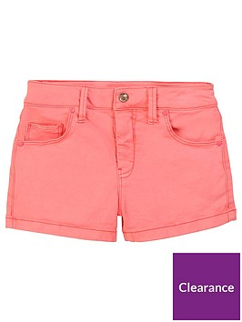 billieblush-girls-embroiderednbspdenim-shorts-fluoro-pink