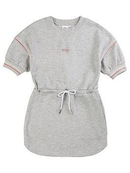 Boss Boss Girls Classic Logo Sweat Dress - Grey Picture