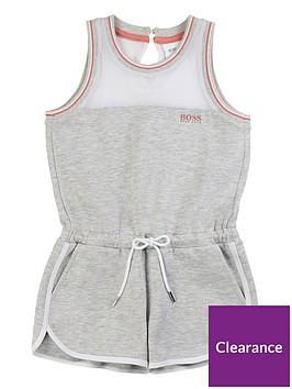 boss-girls-jersey-logo-playsuit-grey