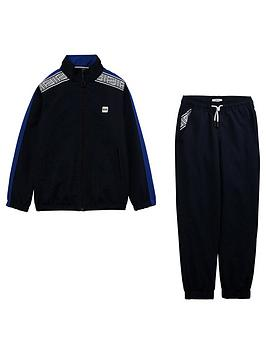 Boss Boss Boys Polyester Zip Through Tracksuit - Navy Picture