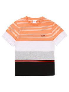 boss-boys-short-sleeve-stripe-block-t-shirt-orange