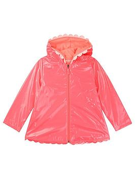 Billieblush Billieblush Girls Hooded Scallop Raincoat - Fuchsia Picture