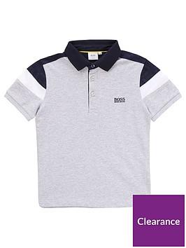 boss-boys-short-sleeve-pique-polo-grey