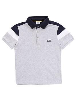 Boss Boss Boys Short Sleeve Pique Polo - Grey Picture
