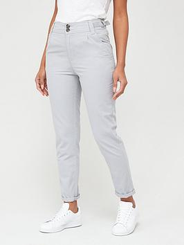 V by Very V By Very Girlfriend Chino Trousers - Grey Picture