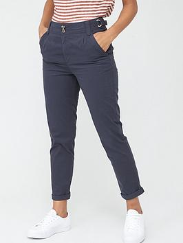 V by Very V By Very Short Girlfriend Chino Trouser - Navy Picture