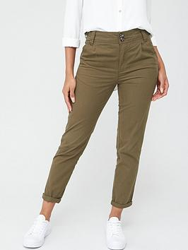V by Very V By Very Short Girlfriend Chino Trousers - Khaki Picture