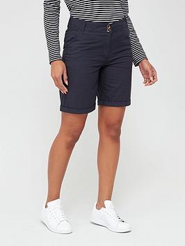 V by Very V By Very Longer Length Poplin Shorts - Navy Picture
